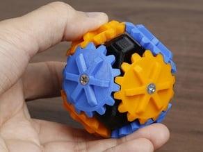 Octahedron Bevel Gear Fidget Spinner
