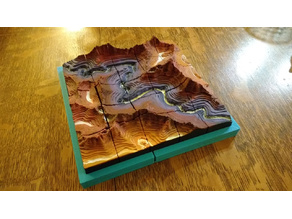 Terrain Puzzle - Layered Canyon