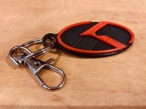 """Kia """"K"""" Logo Keychain"""