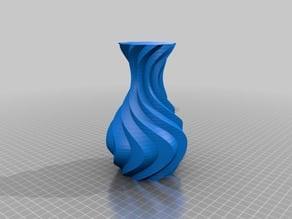 Waved spiral vase