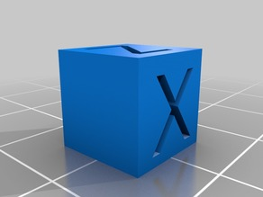 Small X/Y/Z calibration cube (10mm)