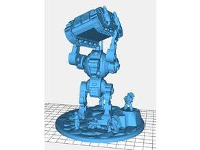 "Robot ""Chucking"" diorama"
