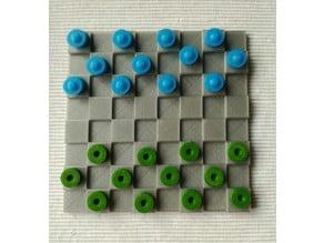 Checkers game /Juego de damas en relieve