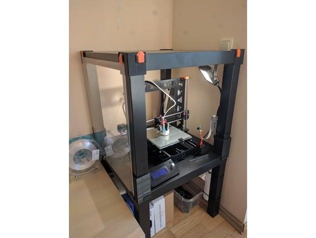 ikea lack printer enclosure magnetless remix by mrcerf thingiverse. Black Bedroom Furniture Sets. Home Design Ideas