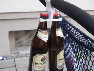 Dual Bottle/ bag holder for Baby Carriage