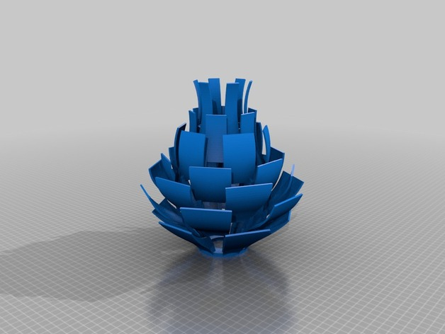 Artichoke lamp shade by gcreate thingiverse thingiview aloadofball Image collections