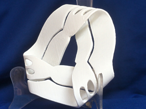 Jean Gordon's Carving: One Surface! Double Moebius Strip