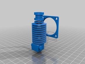 Flsun Cube Extrusor y ventilador distancias