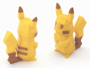 Low-Poly Pikachu  - Multi and Dual Extrusion version