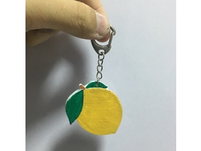 柠檬钥匙扣 | Emoji Lemon Key Chain