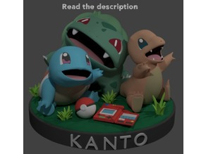 KANTO STARTERS Buy me a coffee donation model, free models on my profile :)