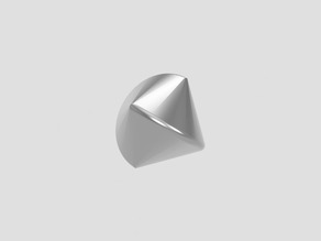 Spericon from a rotated triangle- rolling functional sculpture