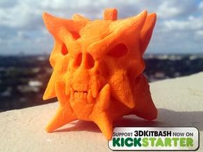 Gankra Skull Charm - Kickstarter promotion for 3DKitbash.com