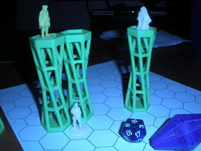 Flying RPG hex grid prop