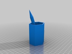 Pencil container with a fake pencil