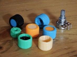 Knob 6mm 2-Piece