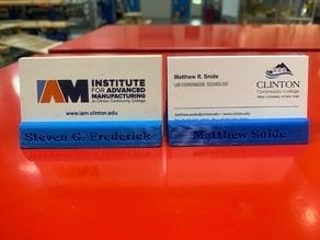 Customizable Business Card Holder