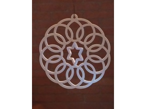 Spirograph Gyroscopic  Christmas Ornament
