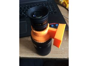 Adapter for photo lens 42мм to telescope 1.25''