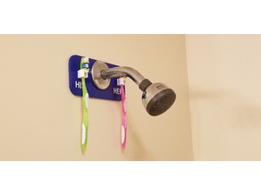 Shower Head Toothbrush Holder