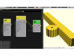 Gears and gear racks in Graphscad