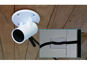 Oculus Rift ceiling mount (changeable angle) and cable clip
