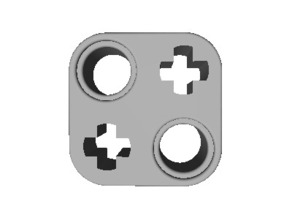 Lego Technic 2x2 Beam Alternating Axlehole and Pinhole