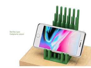 Cellphone stand of bamboo type
