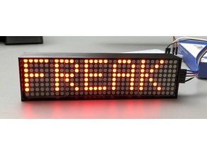 LED MATRIX Case - MAX7219 - 4 x 64 (8x8)
