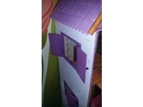 Dollhouse shutter windows