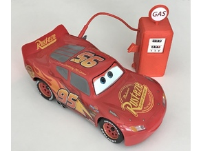 Old gas pump style AC adaptor cover for Sphero Lightning McQueen