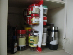 Sliding Rail Mount System for a spice rack