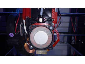 Final Creality / Micro Swiss hotend adapter ALLinONE mount on E3D/J-Head base