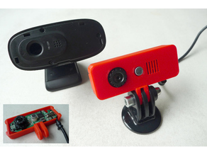 Logitech C270 Webcam Cover Replacement (with GoPro Mount)