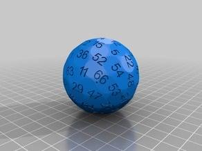 generated 69 faces dice