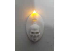 Skull Candle Wall Sconce