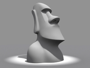 Moai Head With flat Base - Dum Dum Bring Me Gum Gum