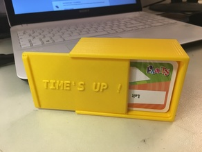 Time's Up cards box - Boite pour cartes Time's up