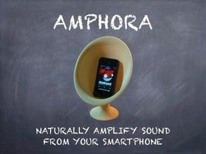 Amphora passive smartphone amplifier