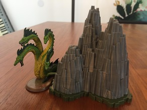 Heroscape Rock Outcrop (3 Hex)