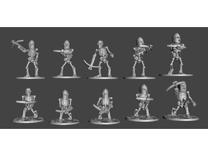 Skeleton Warriors with Crossbows x 10 Poses