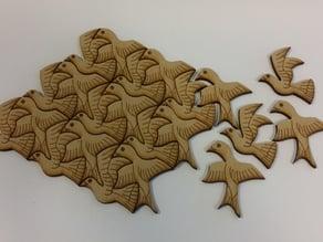 Two Birds based on M C Escher's work