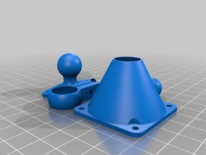 My Customized Articulated Ball Joint Fan Mount - for printrbot GO