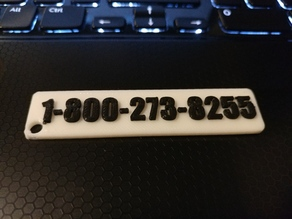 Suicide Prevention Hotline Keychain