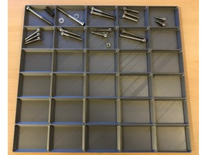 Parametric Small Parts Organizer Tray for Disassembly