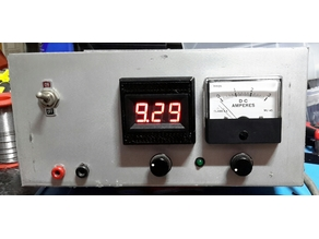 LED VOLTMETER FRAME for retro look to match old Analogue Ammeter