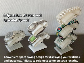 Watch and Bracelet Stand - Convenient / Adjustable / Space Saving