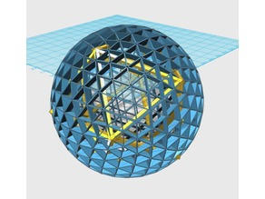 Icosahedron Inscribed Inside Geodesic 6V Sphere