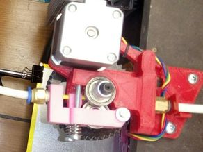 Remix of Ultimate Greg's Wade's Geared Extruder - Bowden version for 3mm filament and 6mm ptfe tube