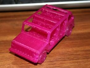Four-door Jeep Wrangler soft top